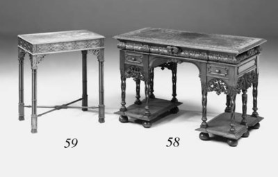 A walnut ocassional table, ear