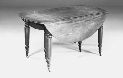 An early Victorian mahogany dr