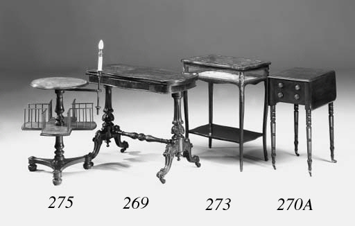 A French Kingwood and floral inlaid bijouterie table, late 19th Century