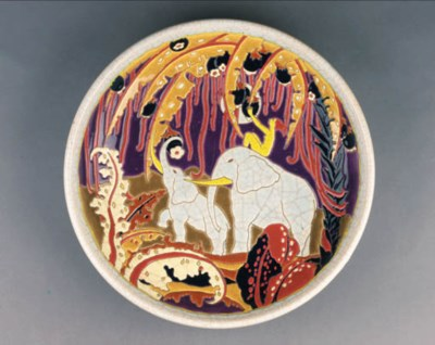 A POTTERY CHARGER