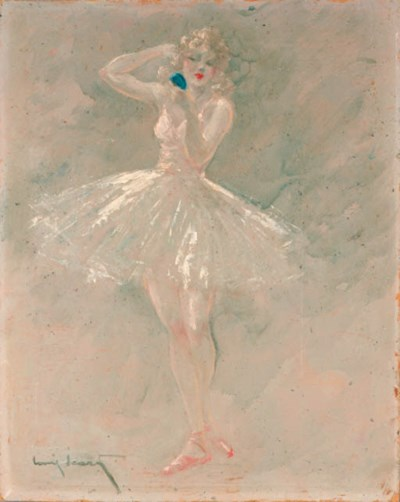 'BALLERINA' OIL ON BOARD