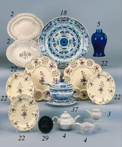 An English creamware part dess