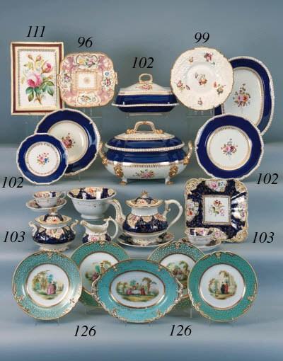 A Staffordshire porcelain rect