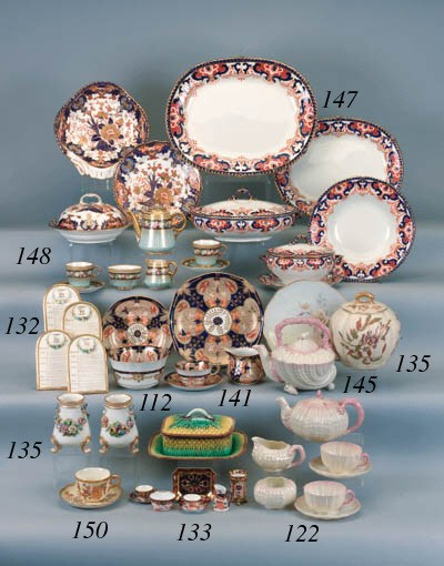 A Belleek composite part tea s