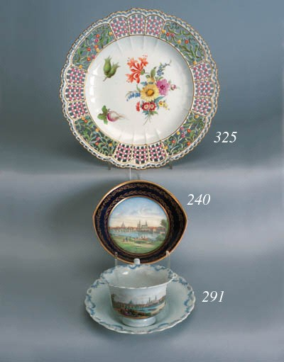 A Meissen topographical cup an