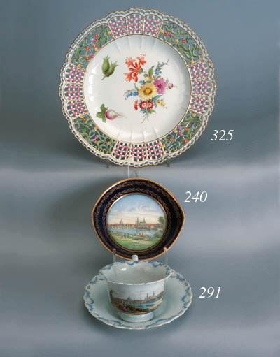 A Meissen plate
