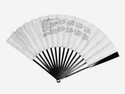 A rare printed ballooning fan,