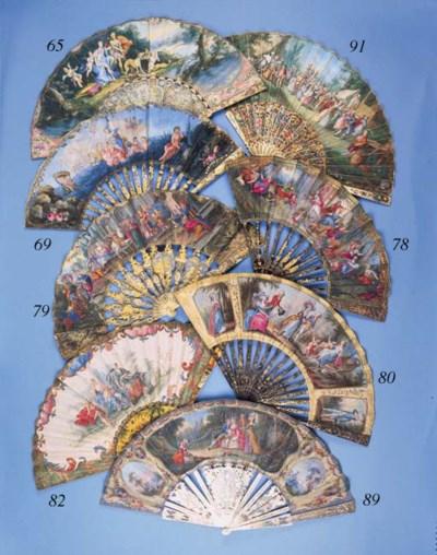 A fan, the silk leaf finely pa