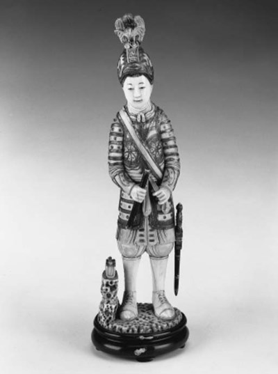 A Japanese ivory soldier