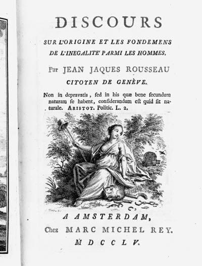 ROUSSEAU, Jean Jacques.  Disco