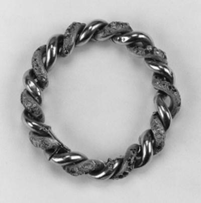 A 19th Century gold diamond an