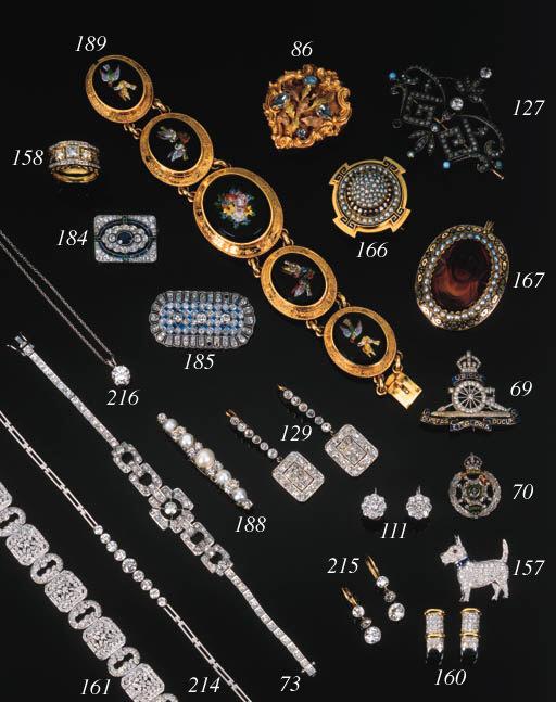 A pair of diamond earrings,