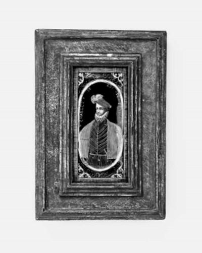 A Limoges enamel portrait plaq