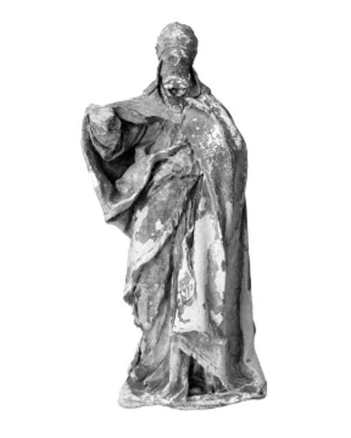 A terracotta figure of a bisho