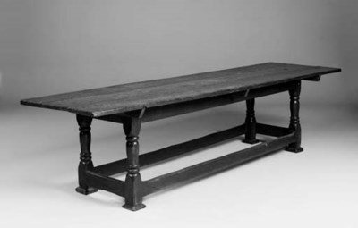 An oak refectory table, North