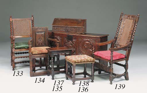 An oak armchair, Scottish, ear