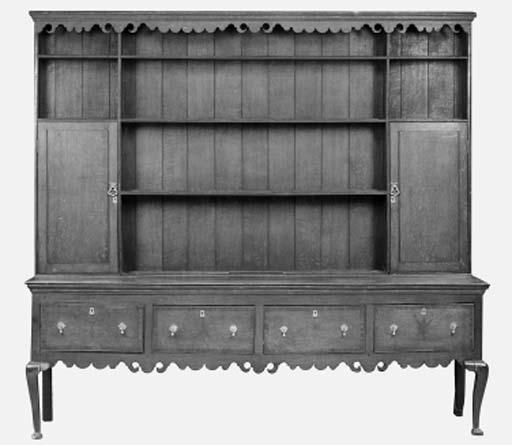 A large oak dresser, West Midl