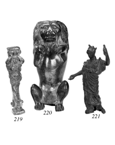 A bronze model of a lion, prob