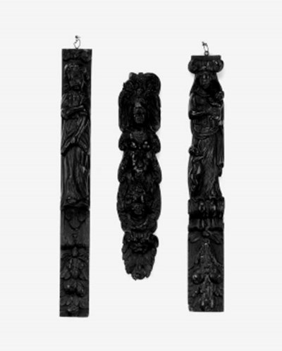 Three Northern European carved