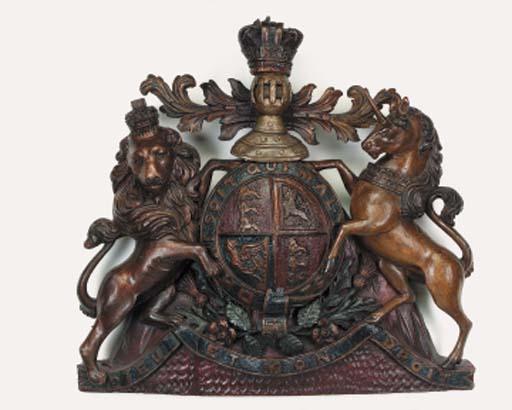 A polychrome carved wood Royal