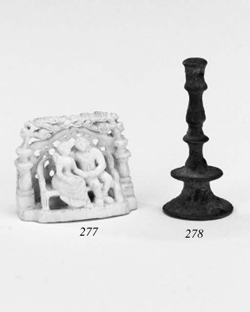 A carved ivory love token, lat