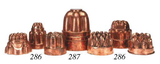 A large copper jelly mould, se