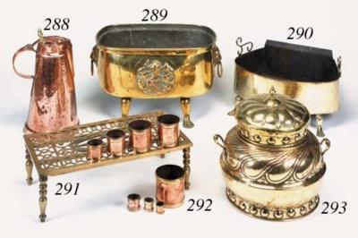 A brass brazier