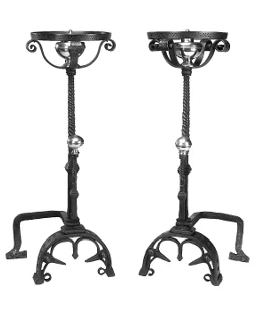 A pair of French andirons, sec