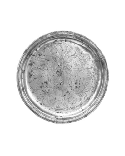 An English pewter plate, late