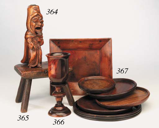 A lignum vitae footed cup, 19t