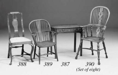 A walnut side chair, English,
