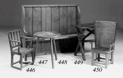 An ash cricket table, English,