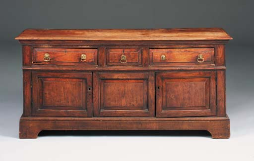An elm dresser, English, mid 1