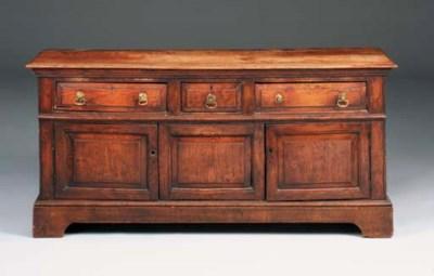 An elm dresser, English, mid 1