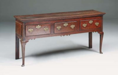 An oak dresser, possibly North