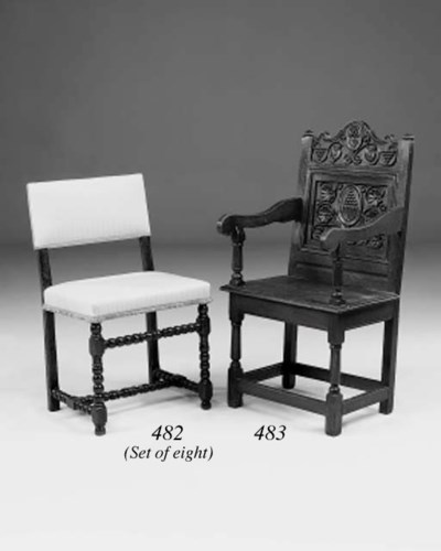 An oak armchair, Cheshire, ear