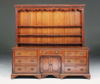 An oak dresser, North West, la