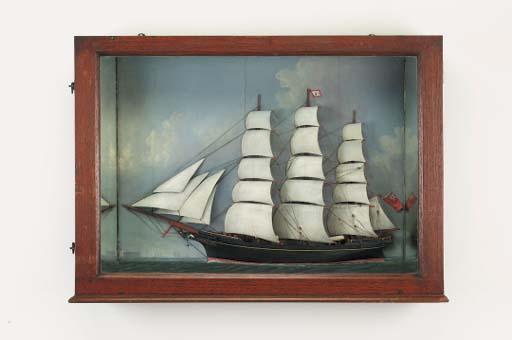 A marine picture half model, l