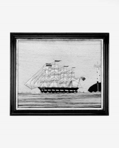 A woolwork picture of a masted