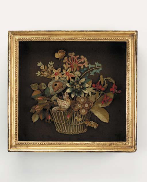 A Regency embroidered feltwork
