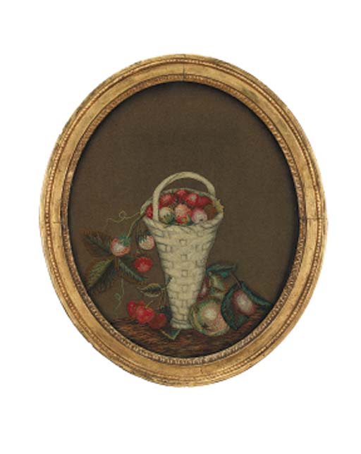 A Regency feltwork and embroid