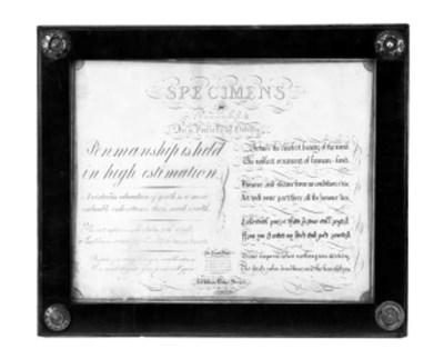 A George IV specimen penmanshi