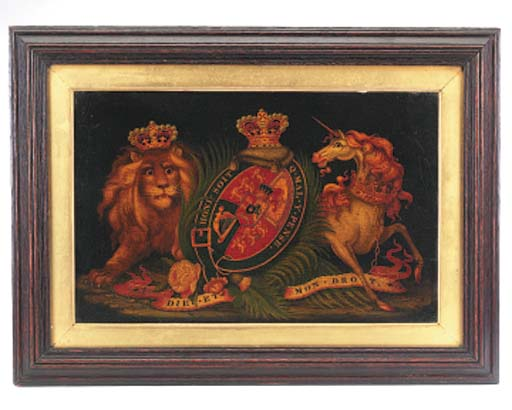 A Royal coat of arms panel, mi
