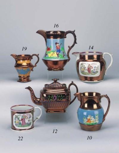A garniture of three pottery c