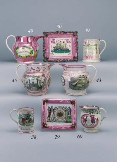A Sunderland lustre pottery ju