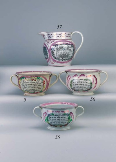 A Sunderland lustre pottery tw