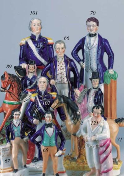 A figure of Sir Robert Peel (B