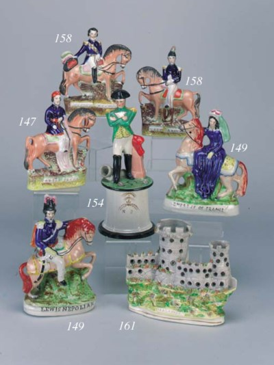 A pair of equestrian figures o