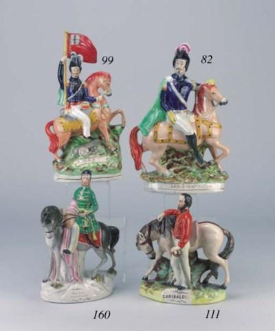 An equestrian figure of Omar P