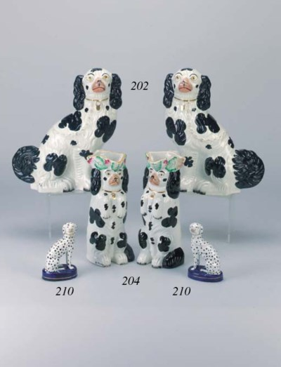 A pair of models of dalmations